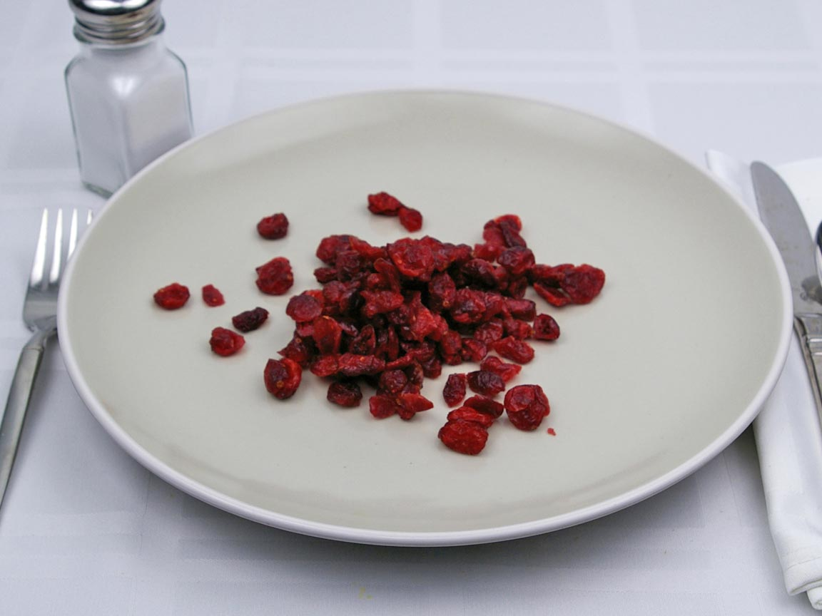 Calories in 0.75 cup(s) of Dried Cranberries