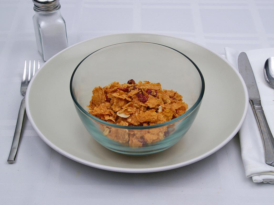 Calories in 1.25 cup of Cranberry Almond Crunch Cereal