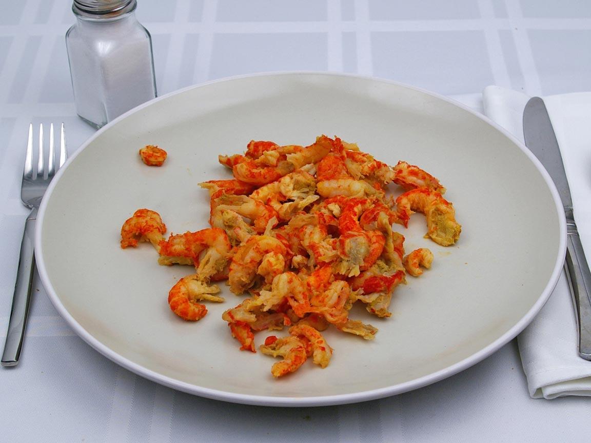 Calories in 141 grams of Crayfish - Crawfish