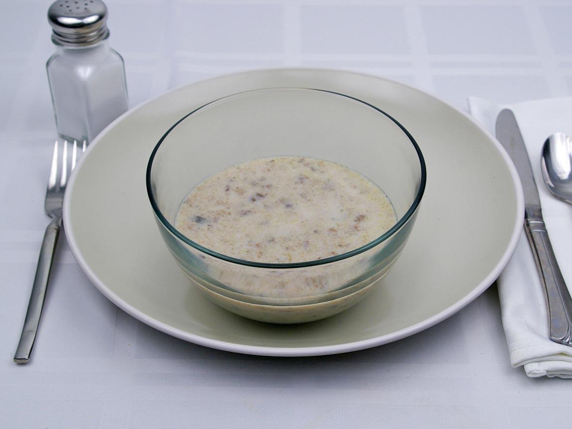 Calories in 1 cup(s) of Cream of Mushroom Soup - 2% Milk