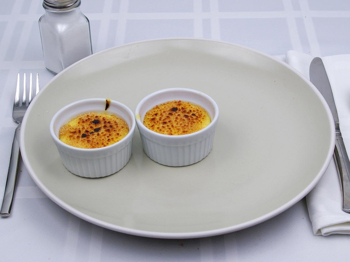 Calories in 2 ramekin(s) of Creme Brulee - Mini