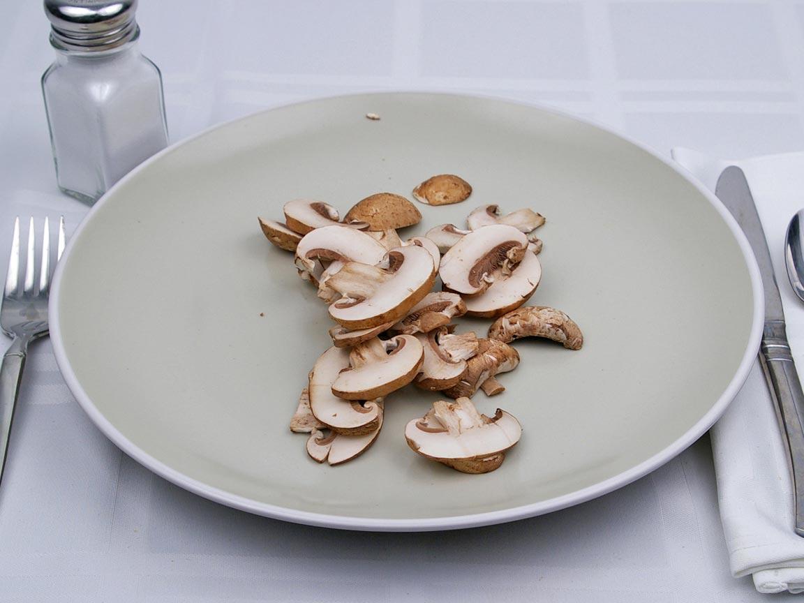 Calories in 56 grams of Cremini Mushrooms
