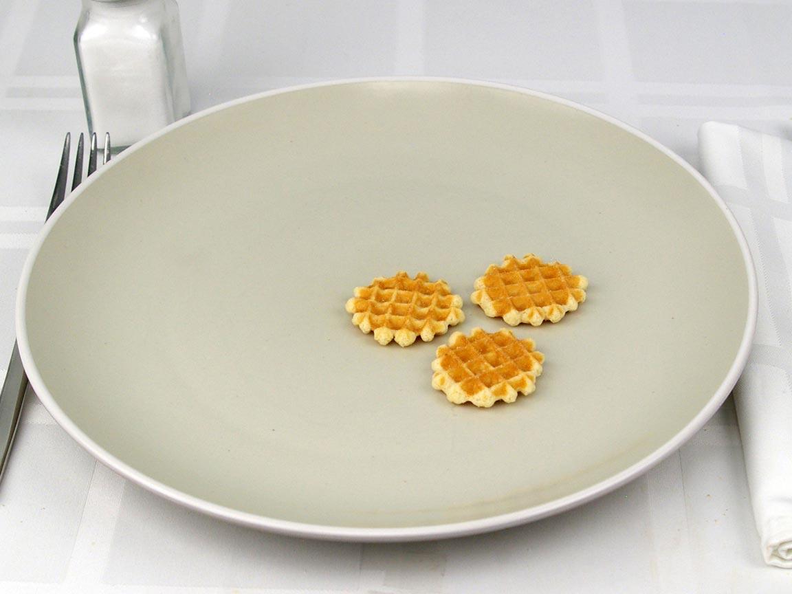 Calories in 3 piece(s) of Mini Belgian Waffles
