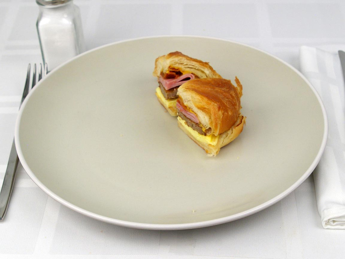 Calories in 0.5 sandwich(s) of Burger King Croissanwich - Fully Loaded
