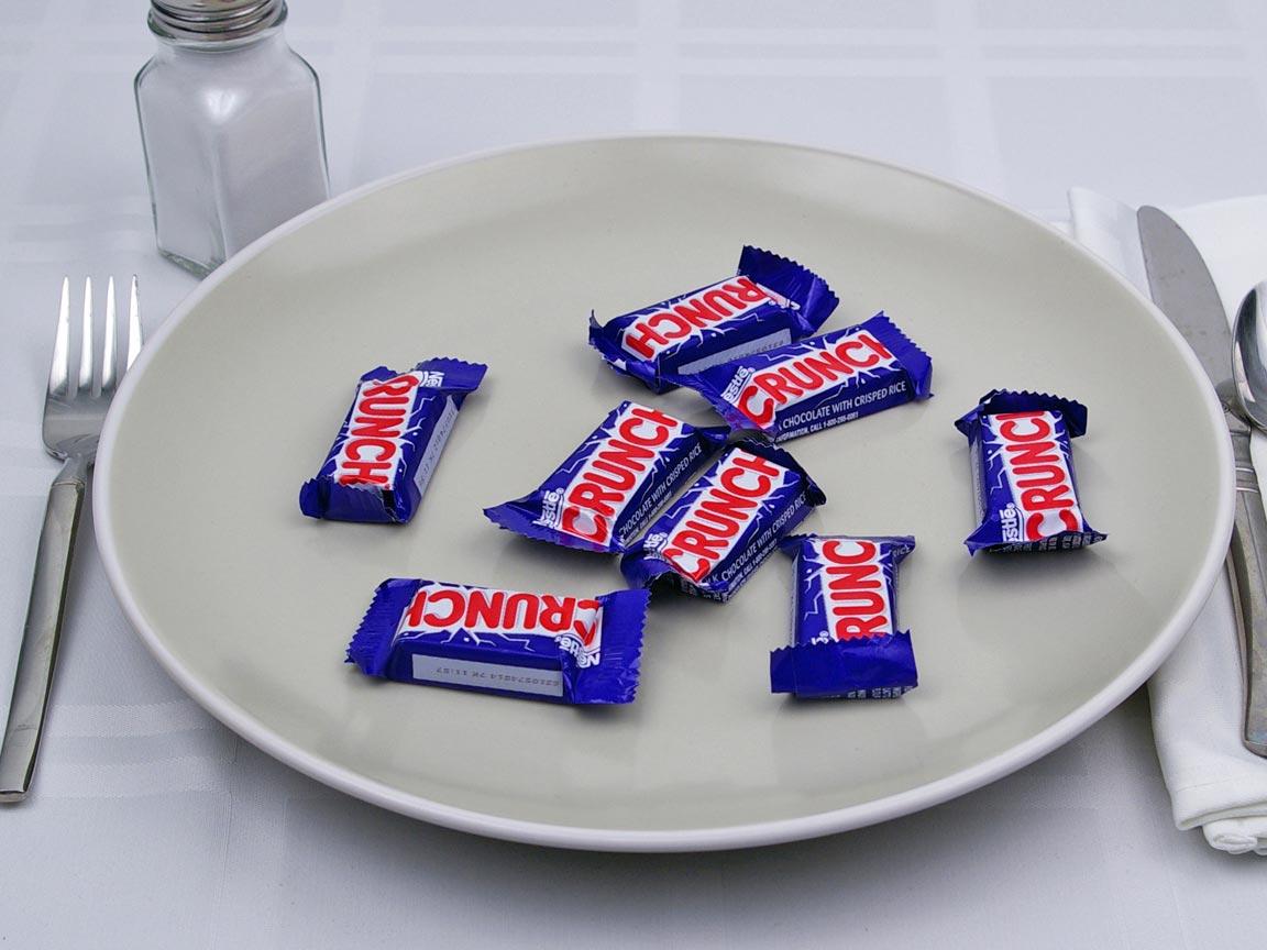 Calories in 8 mini(s) of Crunch Bar Mini