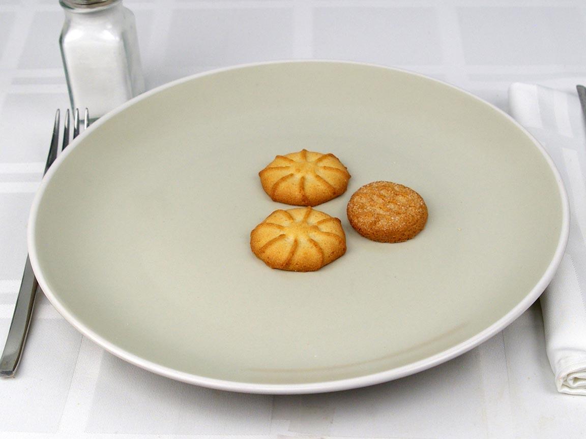 Calories in 3 cookie(s) of Danish Butter Cookies