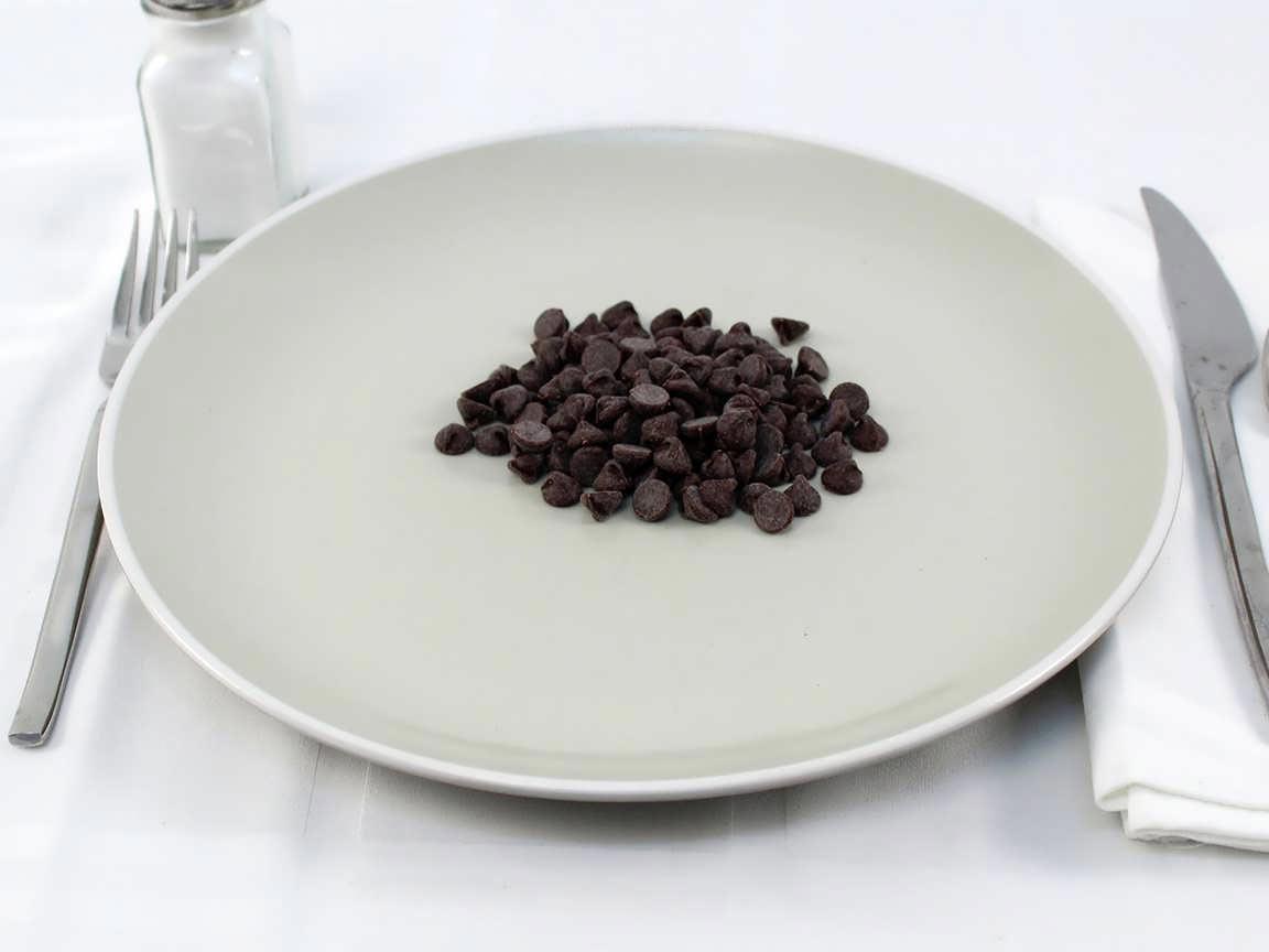 Calories in 56 grams of Dark Chocolate Chips