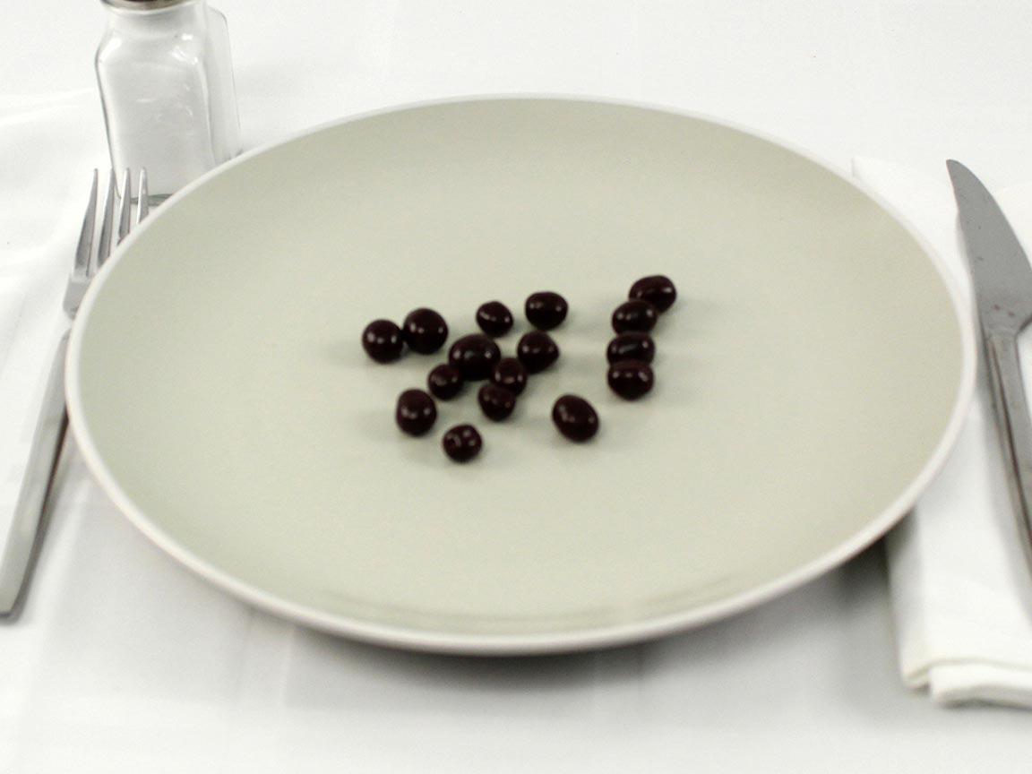 Calories in 16 grams of Dark Chocolate Espresso Beans