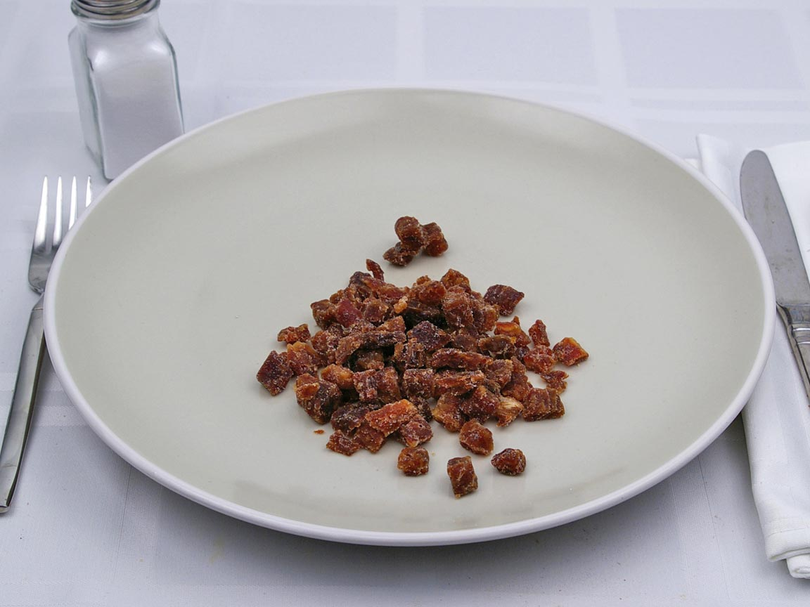 Calories in 0.5 cup of Dates - Dried - Chopped