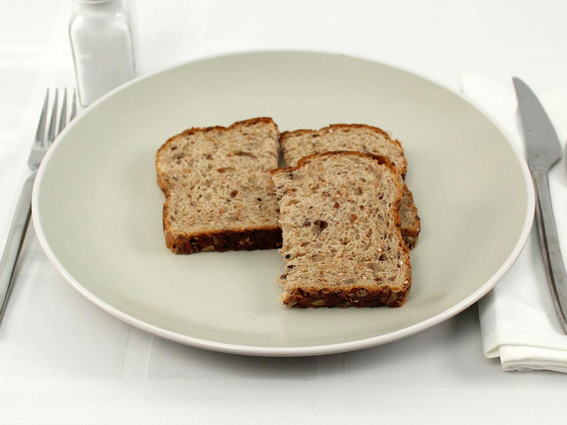 Calories in 1.5 slice(s) of Dave's Killer Good Seed Bread