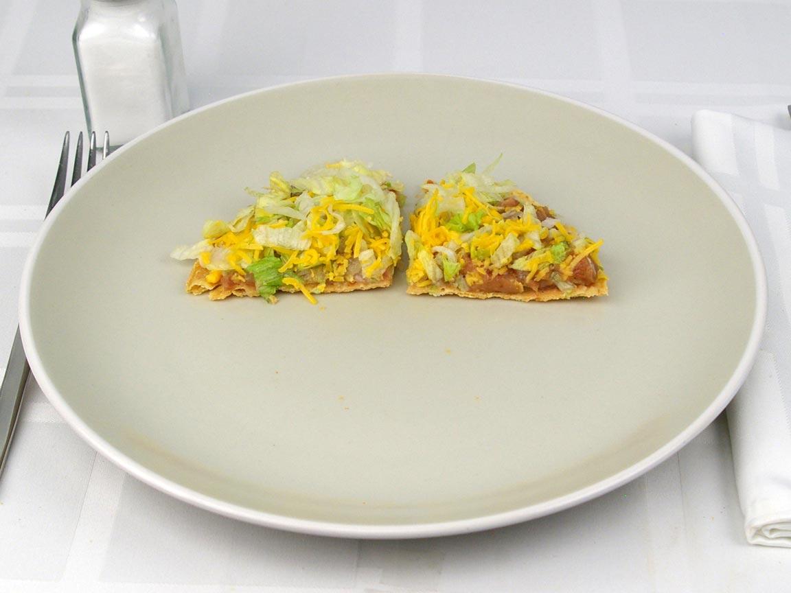 Calories in 0.5 tostada(s) of Del Taco - Crunchtada Tostada