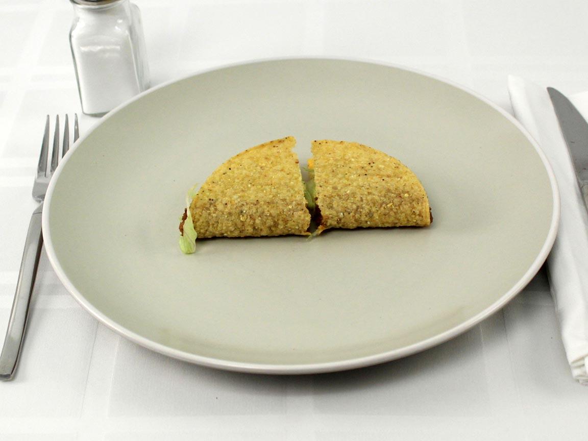 Calories in 1 taco(s) of Del Taco Value Beef Taco