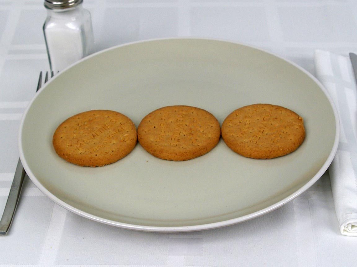 Calories in 3 ea(s) of Digestives Wheat Biscuit