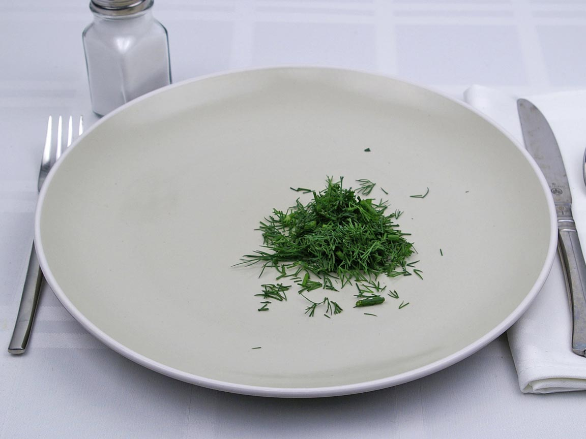 Calories in 6 tsp of Dill