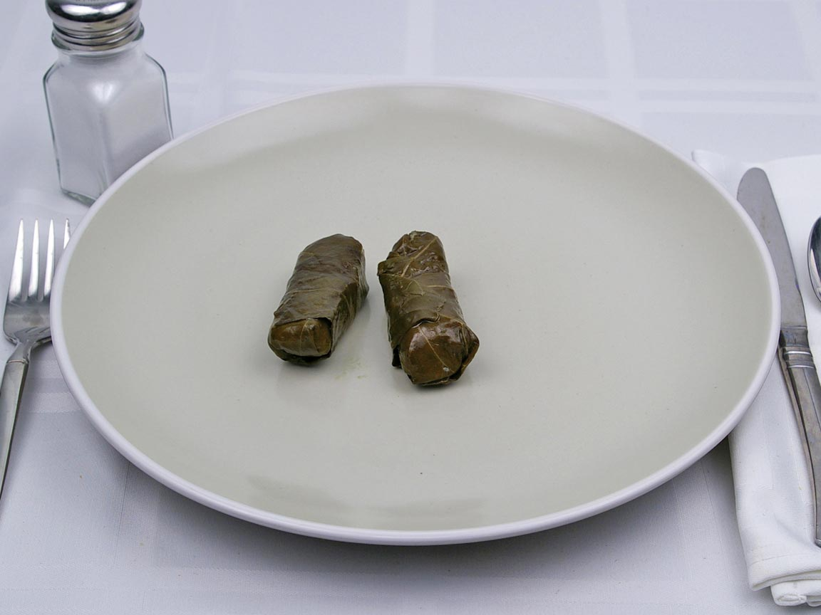 Calories in 2 piece(s) of Dolmas - Rice