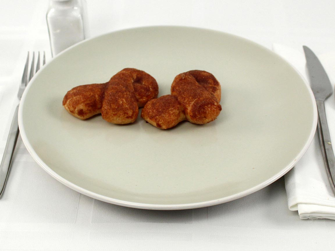 Calories in 48 grams of Domino's Cinnamon Bread Twists