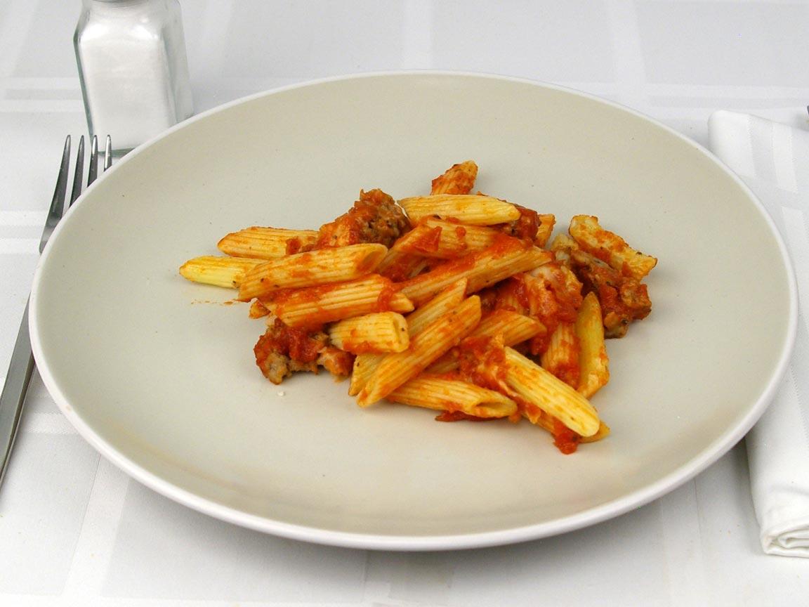 Calories in 1 cup(s) of Domino's Italian Sausage Marinara Pasta