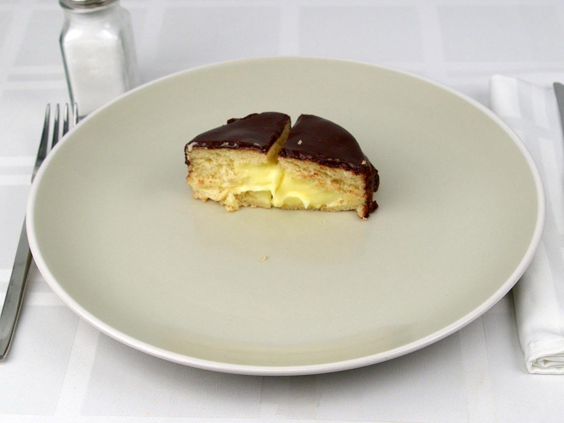 Calories in 0.5 donut(s) of Donut - Boston Cream