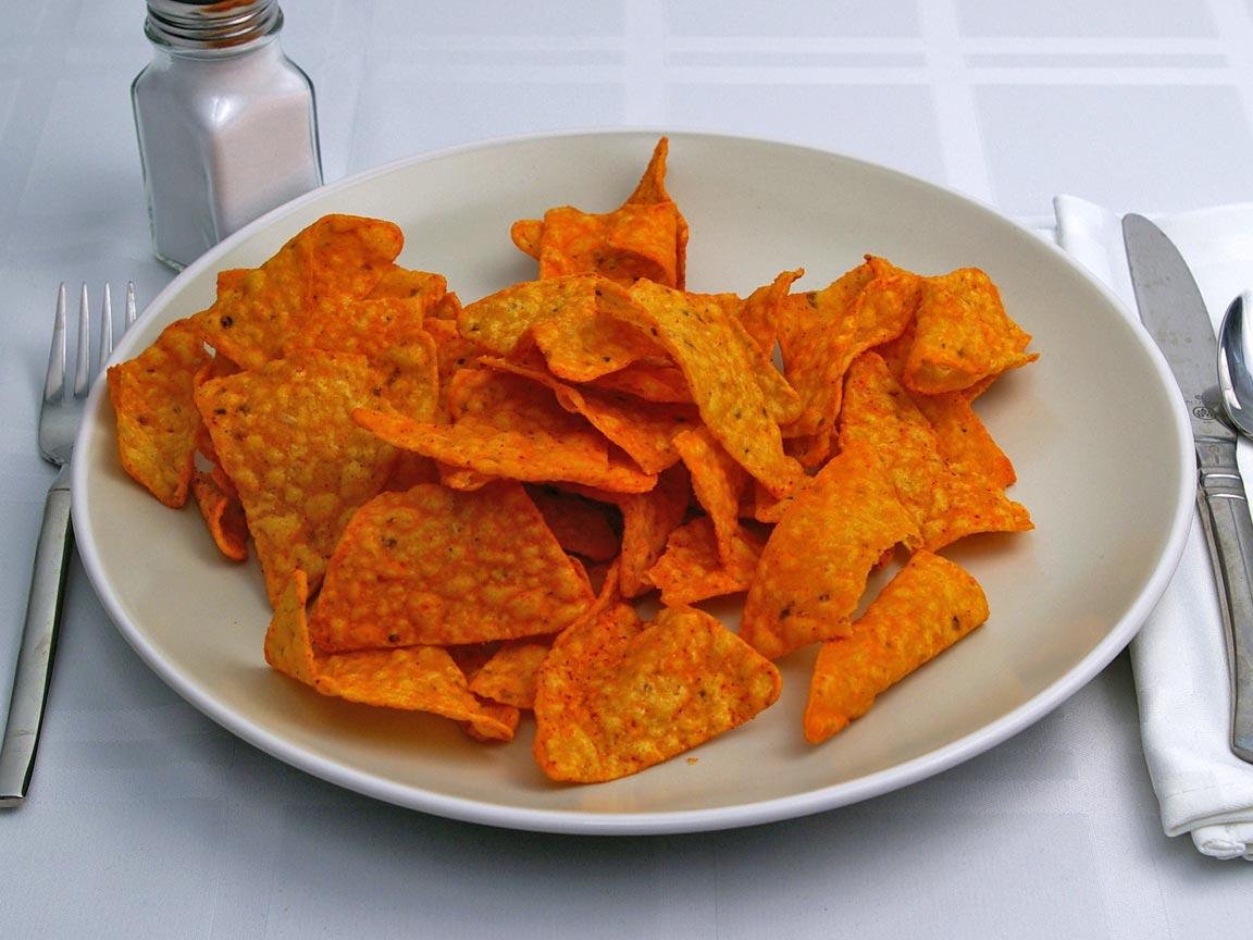 Calories in 85 grams of Doritos - Nacho Cheese