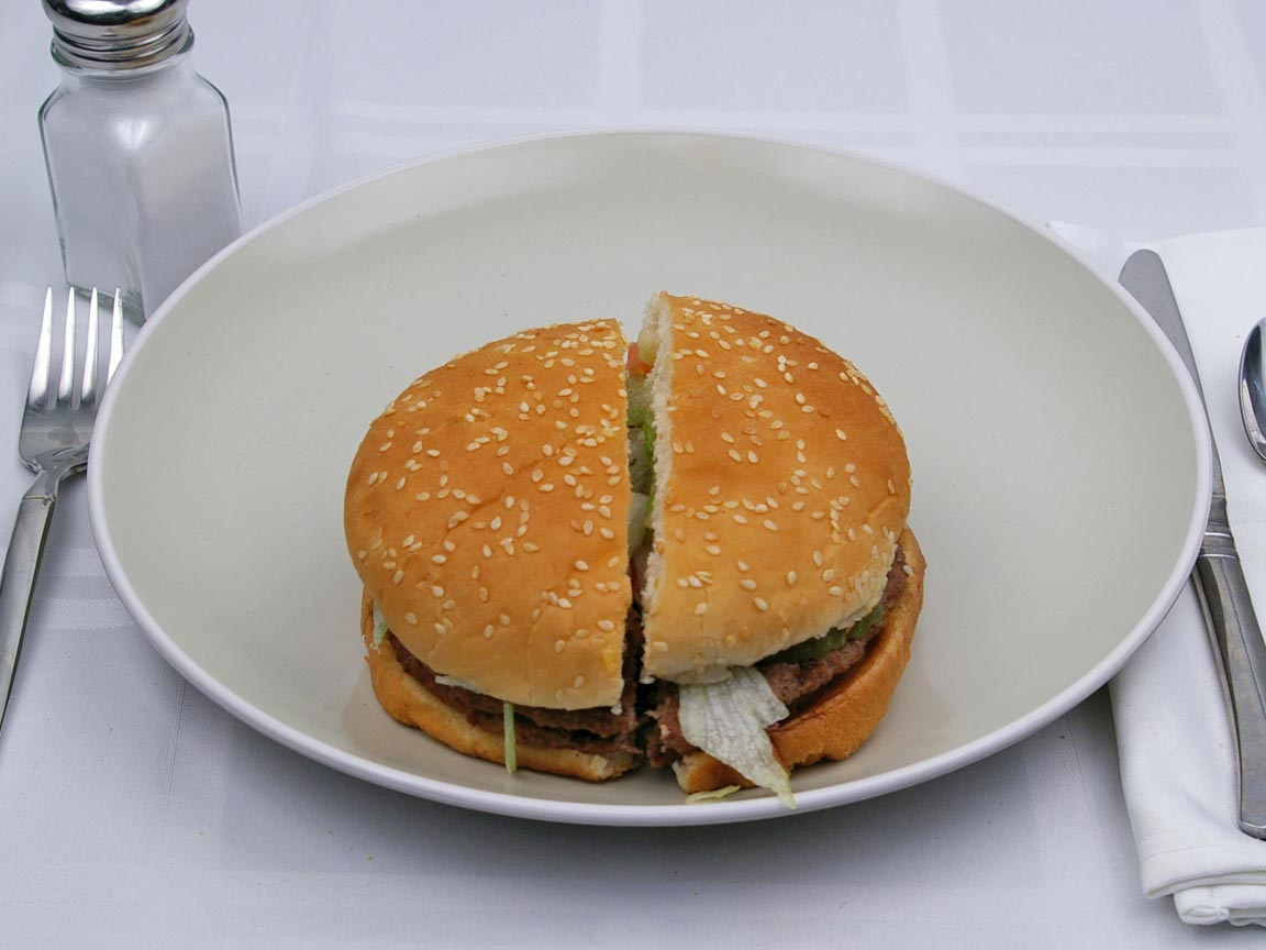 Calories in 1 burger(s) of Burger King - Double Whopper