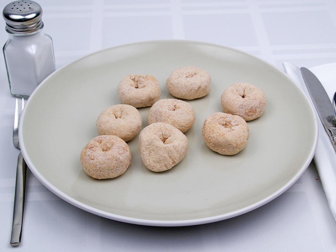 Calories in 8 gem(s) of Mini Donut - Cinnamon Sugar