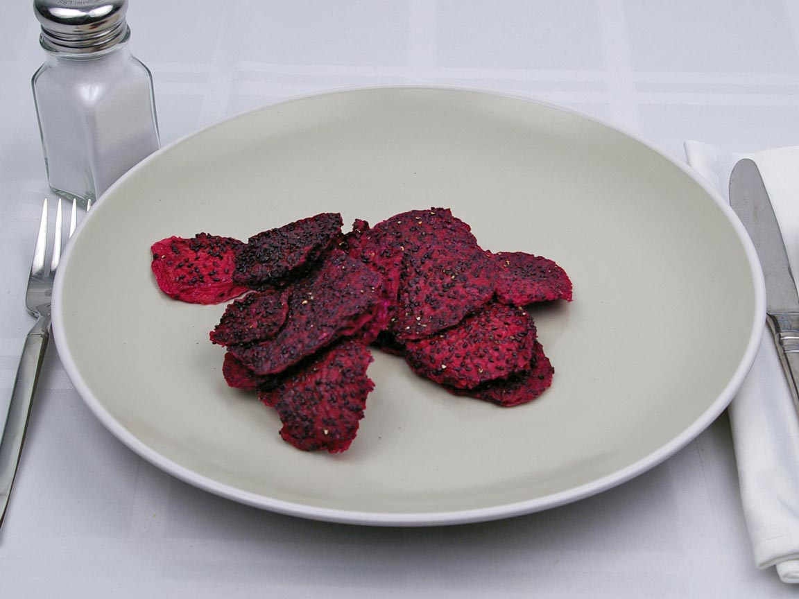 Calories in 0.5 cup(s) of Dragon Fruit - Dried