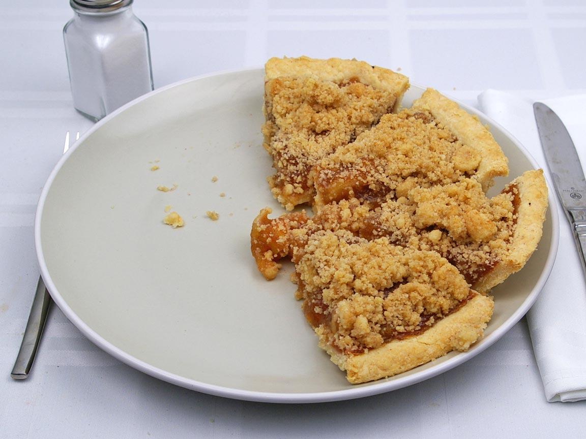 Calories in 4 piece(s) of Dutch Apple Pie