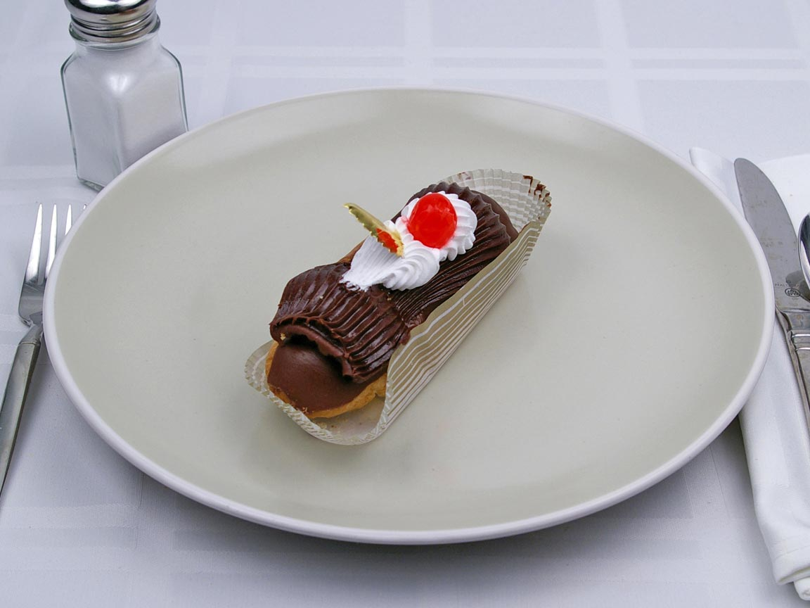 Calories in 1 piece(s) of Eclair - Custard Filled