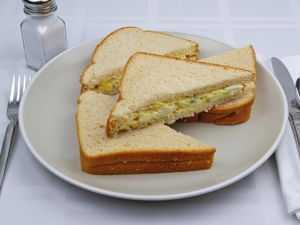 Calories In 2 Sandwich Es Of Egg Salad Sandwhich 5 Cup Egg Salad