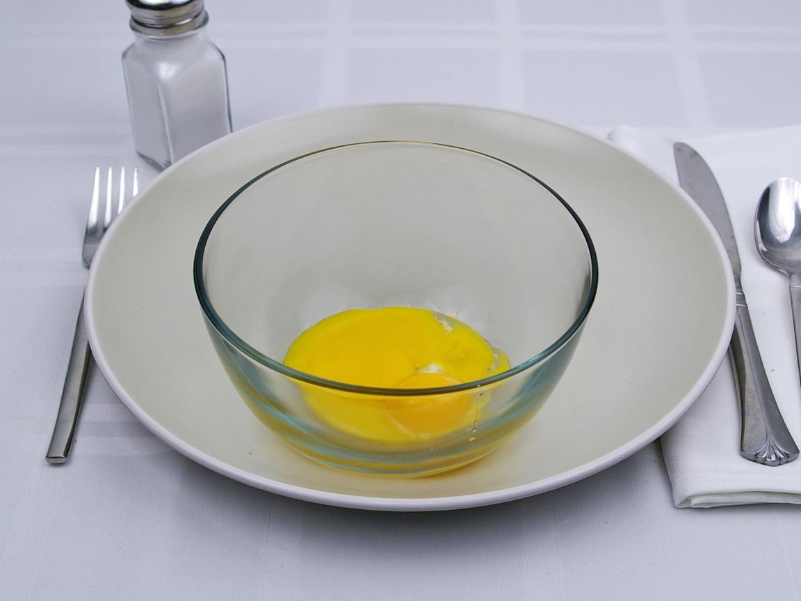 Calories in 3 egg(s) of Egg Yolk - Raw - Large