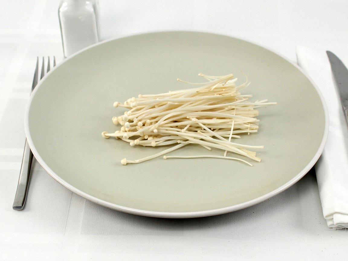 Calories in 30 grams of Enokitake Mushrooms