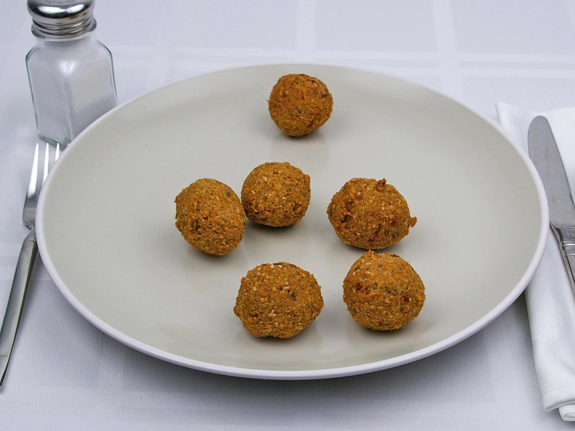 Calories in 6 ball(s) of Falafel