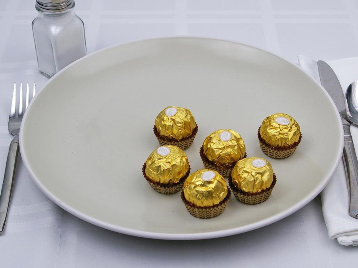 Calories in 6 piece(s) of Ferrero Rocher