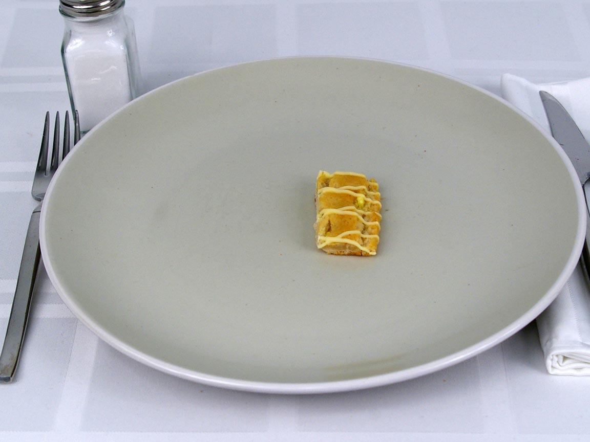 Calories in 0.5 ea(s) of Fiber One Lemon Bar