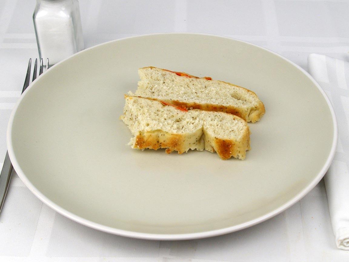 Calories in 2 piece(s) of Foccaccia - Tomato & Parmesan