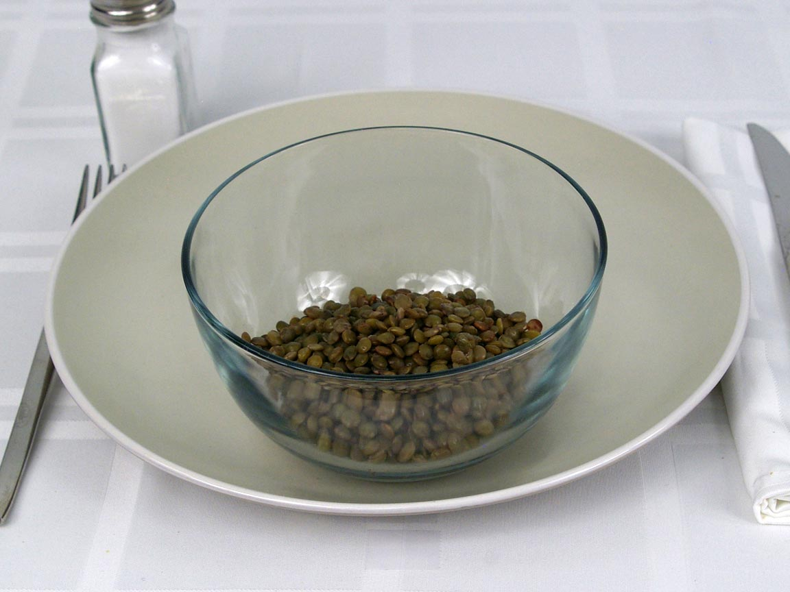 Calories in 0.75 cup(s) of French Lentils