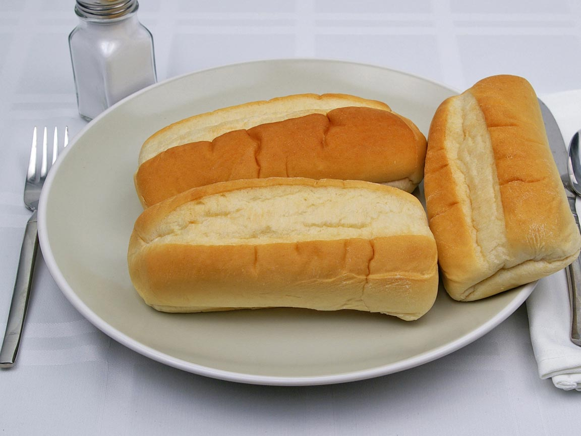 Calories in 3 roll(s) of French Roll