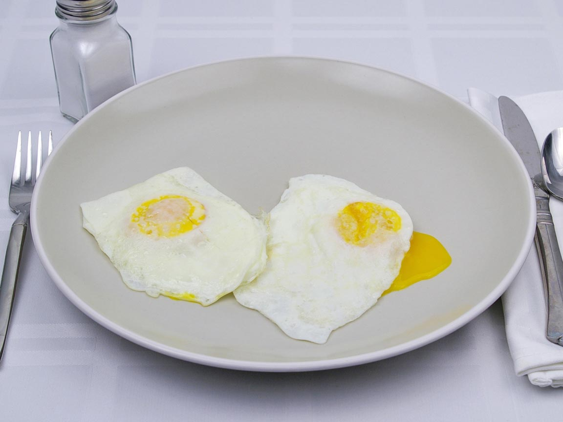 Calories in 2 egg(s) of Fried Egg - Large