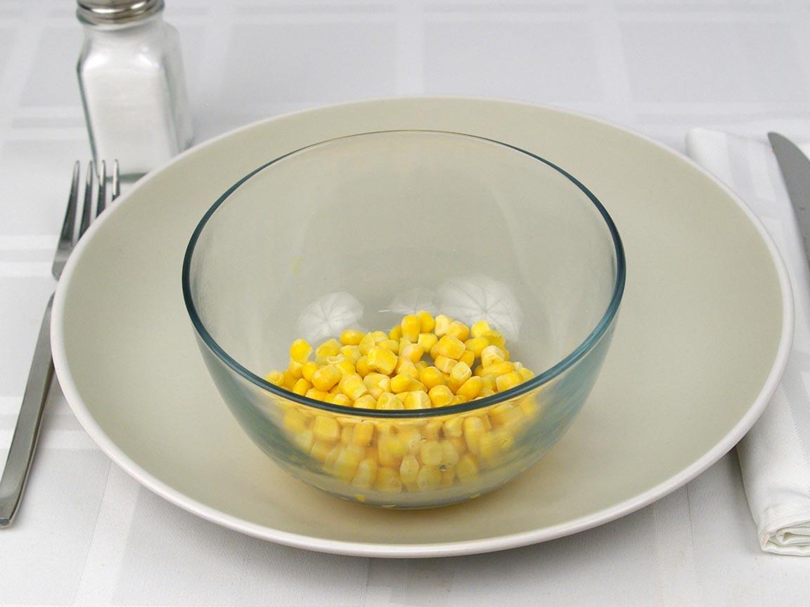Calories in 0.5 cup(s) of Corn Frozen