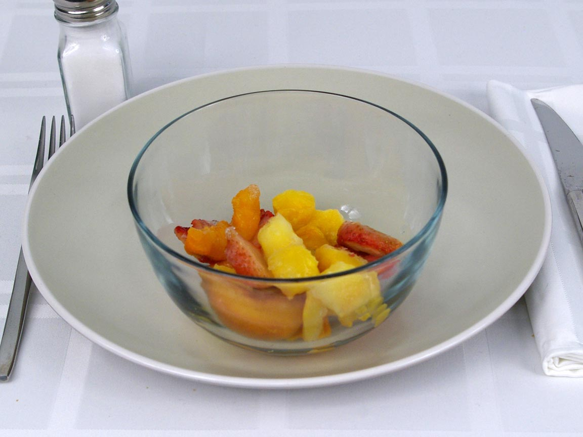 Calories in 1 cup(s) of Mixed Fruit - Frozen