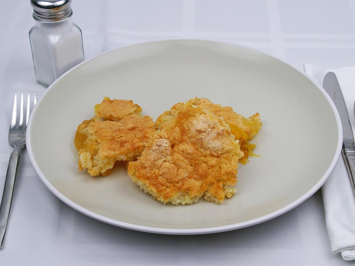 Calories in 3 piece(s) of Fruit Cobbler - Peach