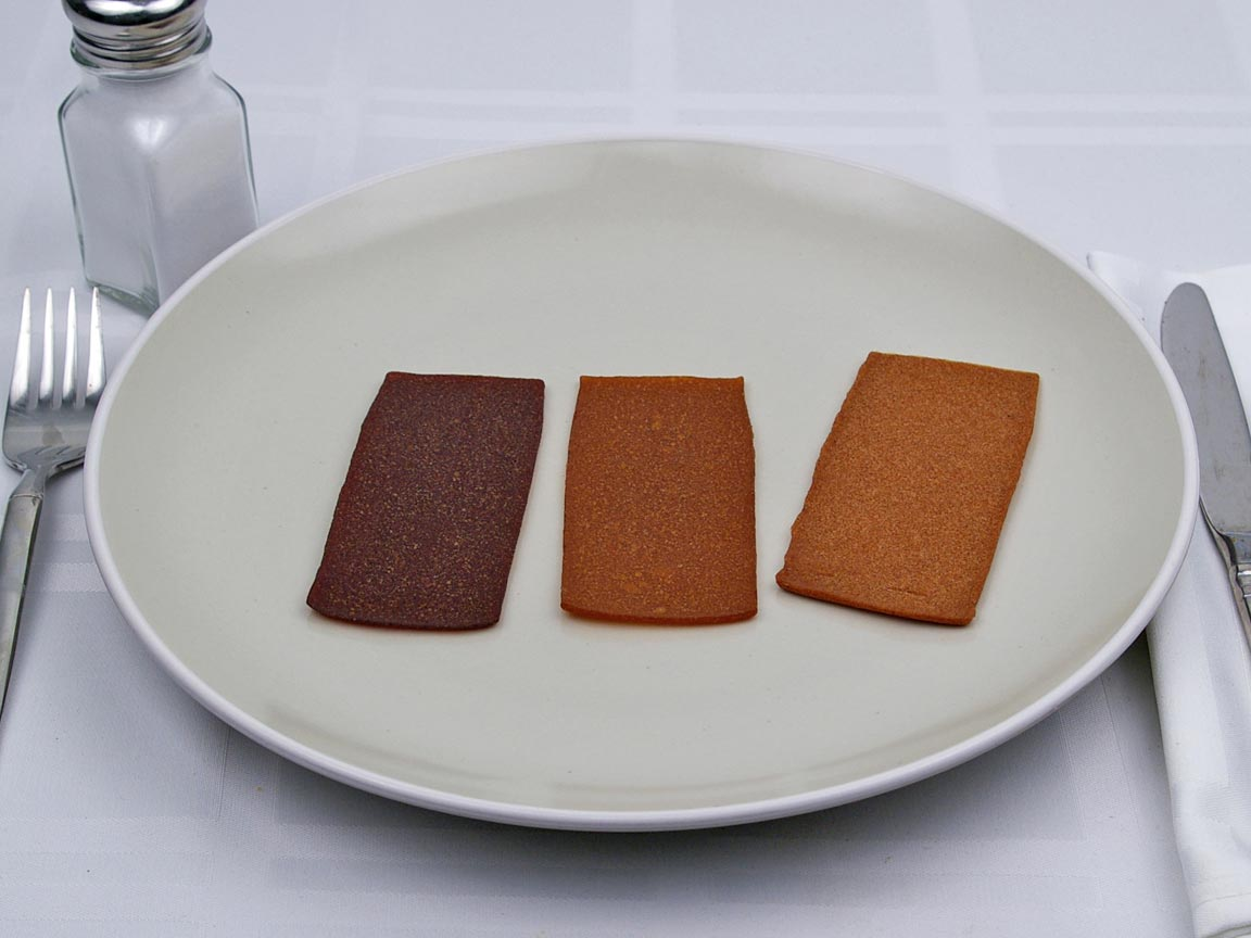 Calories in 3 piece(s) of Fruit Leathers