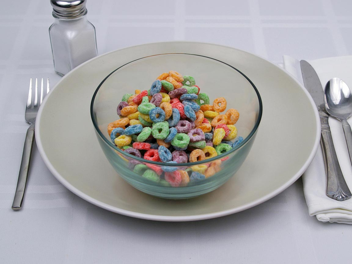 Calories in 1.5 cup(s) of Froot Loops Cereal