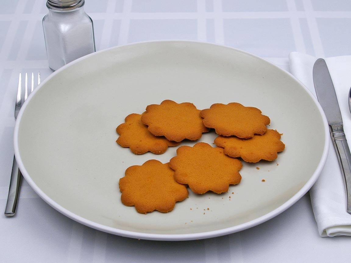 Calories in 6 cookie(s) of Galletas - Cookie - Orange