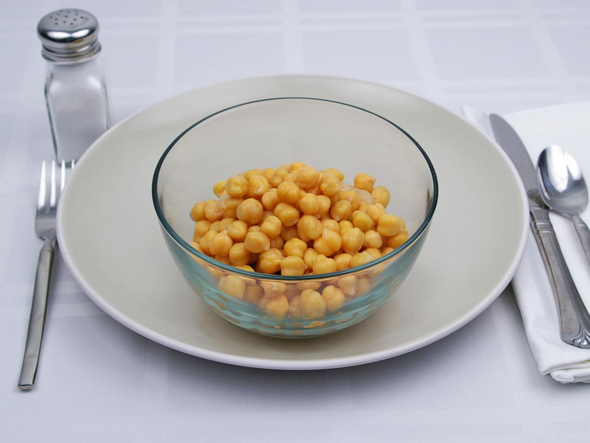 Calories in 1.75 cup(s) of Garbanzo Beans - Chickpeas