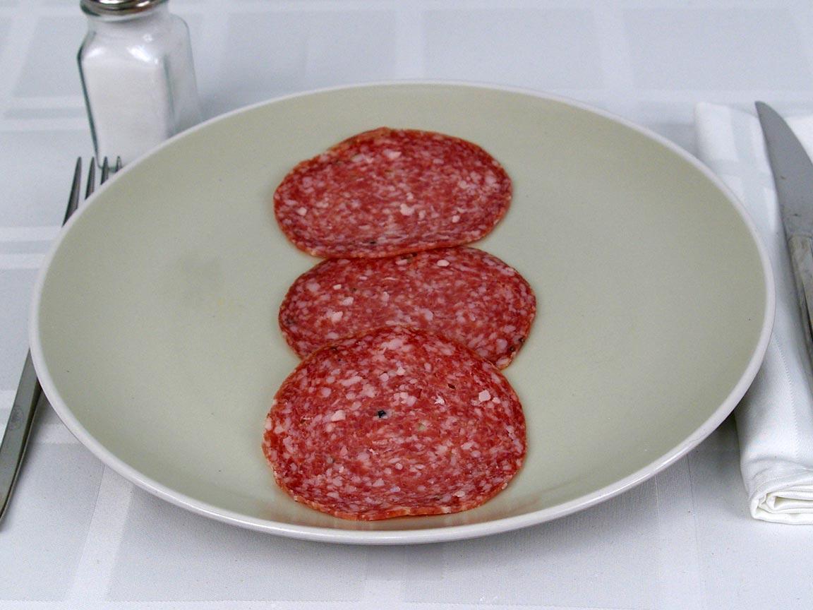 Calories in 3 ea(s) of Genoa Salami
