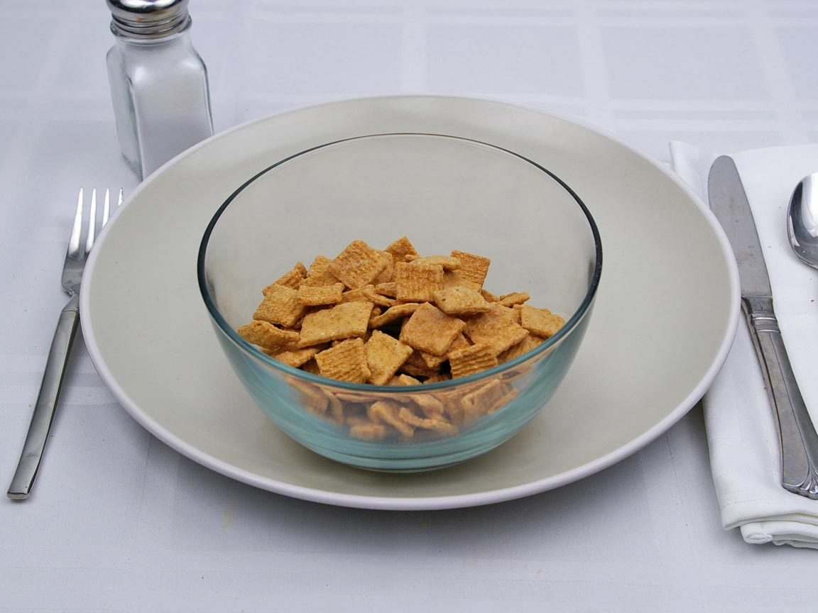 Calories in 1.25 cup(s) of Golden Grahams Cereal