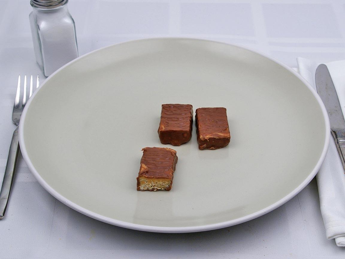 Calories in 1.5 bar of Quaker Granola Bar - Chocolate Dipped