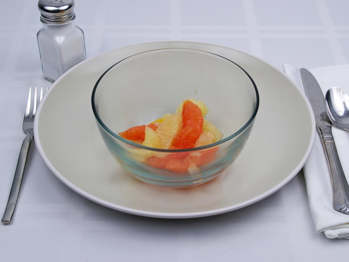 Calories in 0.5 cup(s) of Citrus Salad - Canned