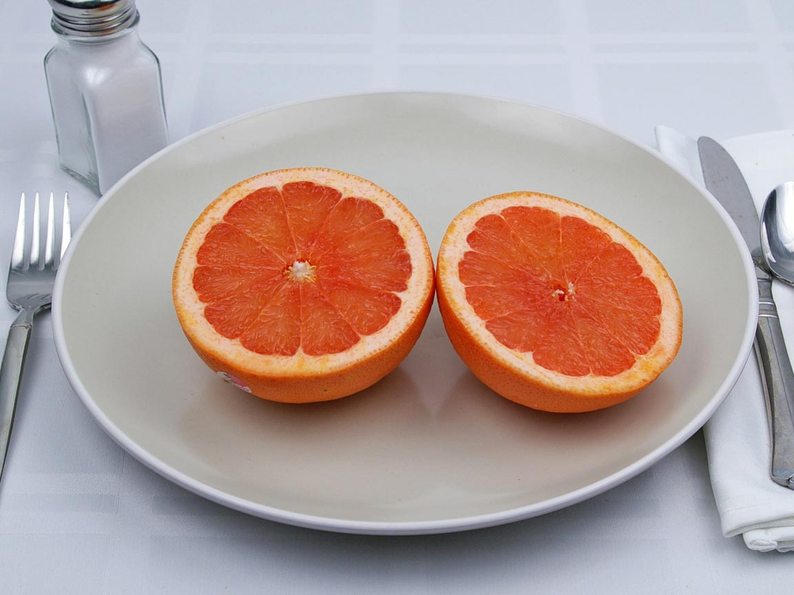 Calories in 1 grapefruit(s) of Grapefruit - Red